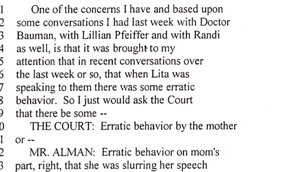 0_LF_Slur COURT TRANSCRIPT ERATIC BEHAVIOR - SLURRING SPEECH