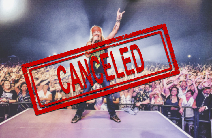 COVID STRIKES … Bret Michaels has been forced to Cancel his solo band's appearance at the California Mid-State Fair from possible Covid-19 exposure